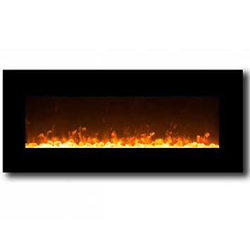 Sensational Regal Flame Orion Black 50 Crystal Ventless Heater Electric Wall Mounted Fireplace Better Than Wood Fireplaces Gas Logs Fireplace Inserts Log Beutiful Home Inspiration Ommitmahrainfo