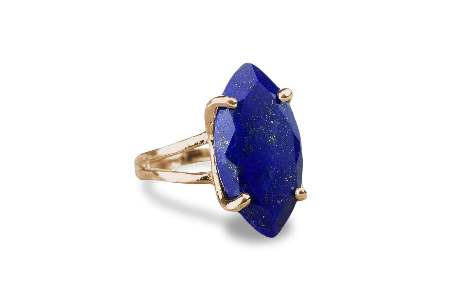 Anemone Jewelry Birthstone Rings for Women Lapis Lazuli Ring in 925 Sterling Silver Blue Rings for Women for Celebrations and Everyday Wear with Gift Box