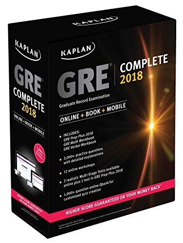 GRE Complete 2018: The Ultimate in Comprehensive Self-Study for GRE (Kaplan Test Prep)