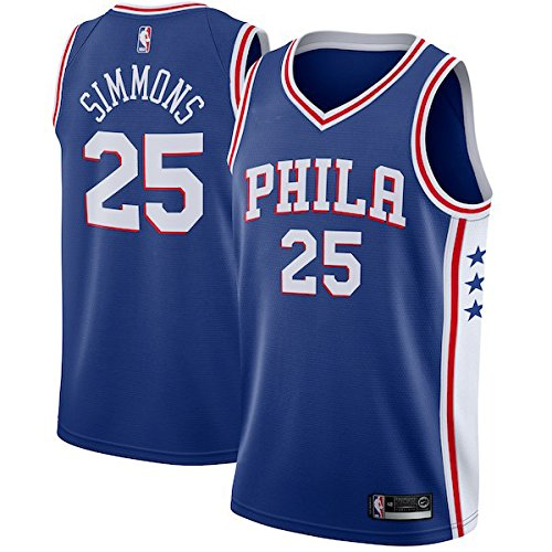 MITFASH Men's 76ers Simmons Blue Swingman Jersey - Icon Edition