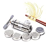 Umiwe Manual Noodle Pasta Maker Stainless Steel Noodle Press Machine Manual Fruits Juicer with 5 Pressing Moulds