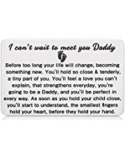 New Dad Wallet Insert Card Daddy to Be Gifts Pregnancy Baby Announcement Gifts for Him New Father Soon to Be Daddy Gifts for Men First Time Dads Gifts from New Mommy Christmas Fathers Day