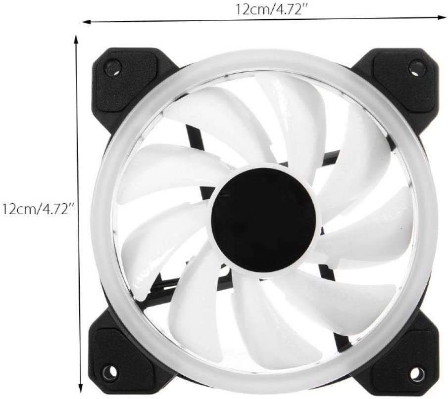ZXLLAFT RGB 120Mm Dual Halo PC Cooling Fan 1 Controller. 2 Fans