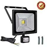 Cly 50W Outdoor Security Light with Motion Sensor, Led Floodlight with PIR, Super Bright Flood Lights with Sensor, Daylight White IP66 Waterproof Outdoor Sensor Light (Update 50w)