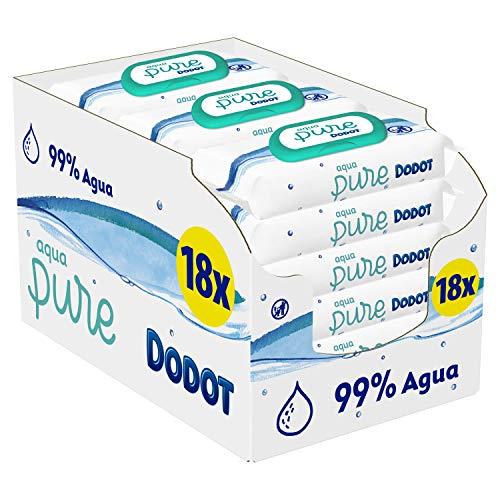 🥇 Dodot Aqua Pure – Toallitas Bebé con 99% Agua