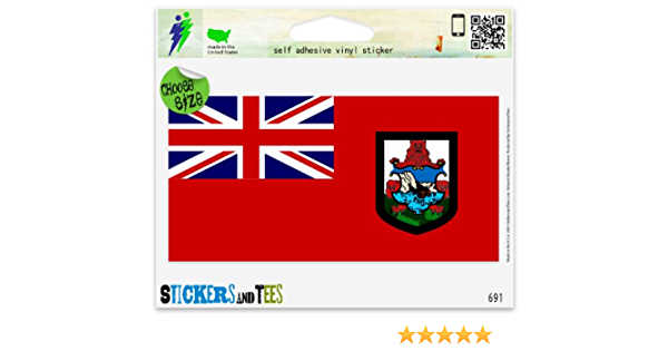 Bermuda Flag Islands Vinyl Sticker Decal Car Window Wall Door