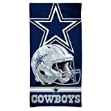 "McArthur Dallas Cowboys 30"" x 60"" Fiber Beach Towel Revolution Helmet New 2018 Design"