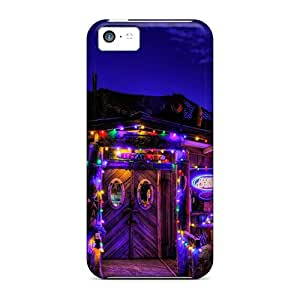 New Premium DaMMeke Colorful Lights Skin Case Cover Excellent Fitted For Iphone 5c