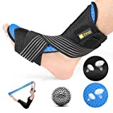 Plantar Fasciitis Night Splint Kit - Orthotic Brace Sleep Support Pain Relief from Foot Drop, Tendonitis, Heel, Arch
