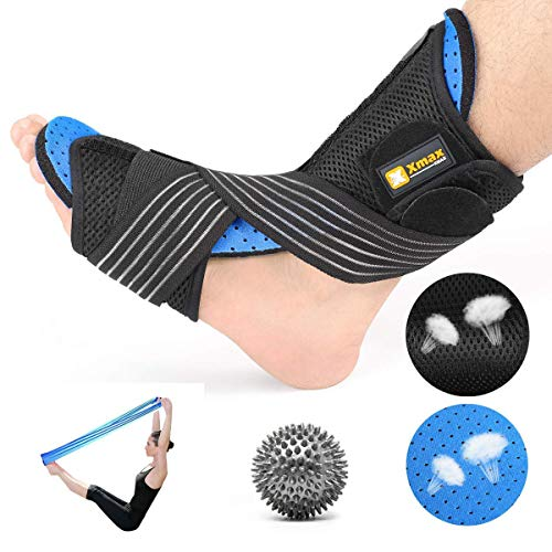 Plantar Fasciitis Night Splint Kit - Orthotic Brace Sleep Support Pain Relief from Foot Drop, Tendonitis, Heel, Arch
