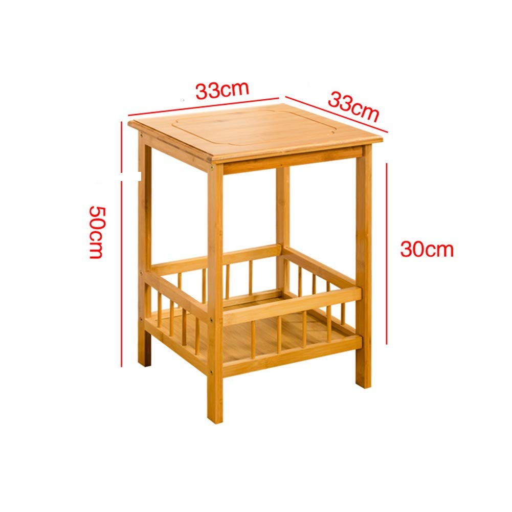 Bamboo 333350cm ZHAOYONGLI Tables,Coffee Tables Natural Bamboo End Table, Sofa Side Table,Coffee Tea Table,Nightstand with Storage Basket (color   Brown, Size   33  33  50cm)