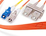 3M LC to SC Mode Conditioning Fiber Patch Cable | Fiber Optic LC Mode-Conditioning to SC Fiber Patch Cable 3 Meter (9.84ft) | Length Options: 1M-15M | FiberCablesDirect | Alt: mc patch sm lc to sc mm