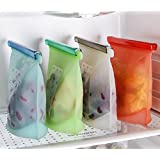 Set of 4PCS Reusable Silicone Food Preservation Bag Airtight Seal Food Storage Container Versatile Cooking Bag Kitchen Cooking Utensil