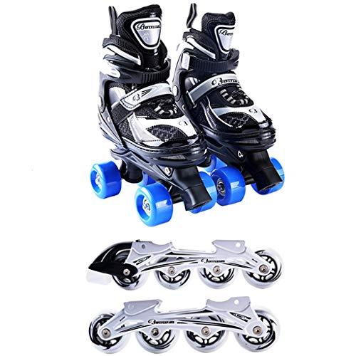 いっぱい一定ライラックLIUXUEPING スケート、 ローラースケート、 四輪スケート、 ローラーシューズ 子供用ダブルローラースケート 初心者の単列スケート