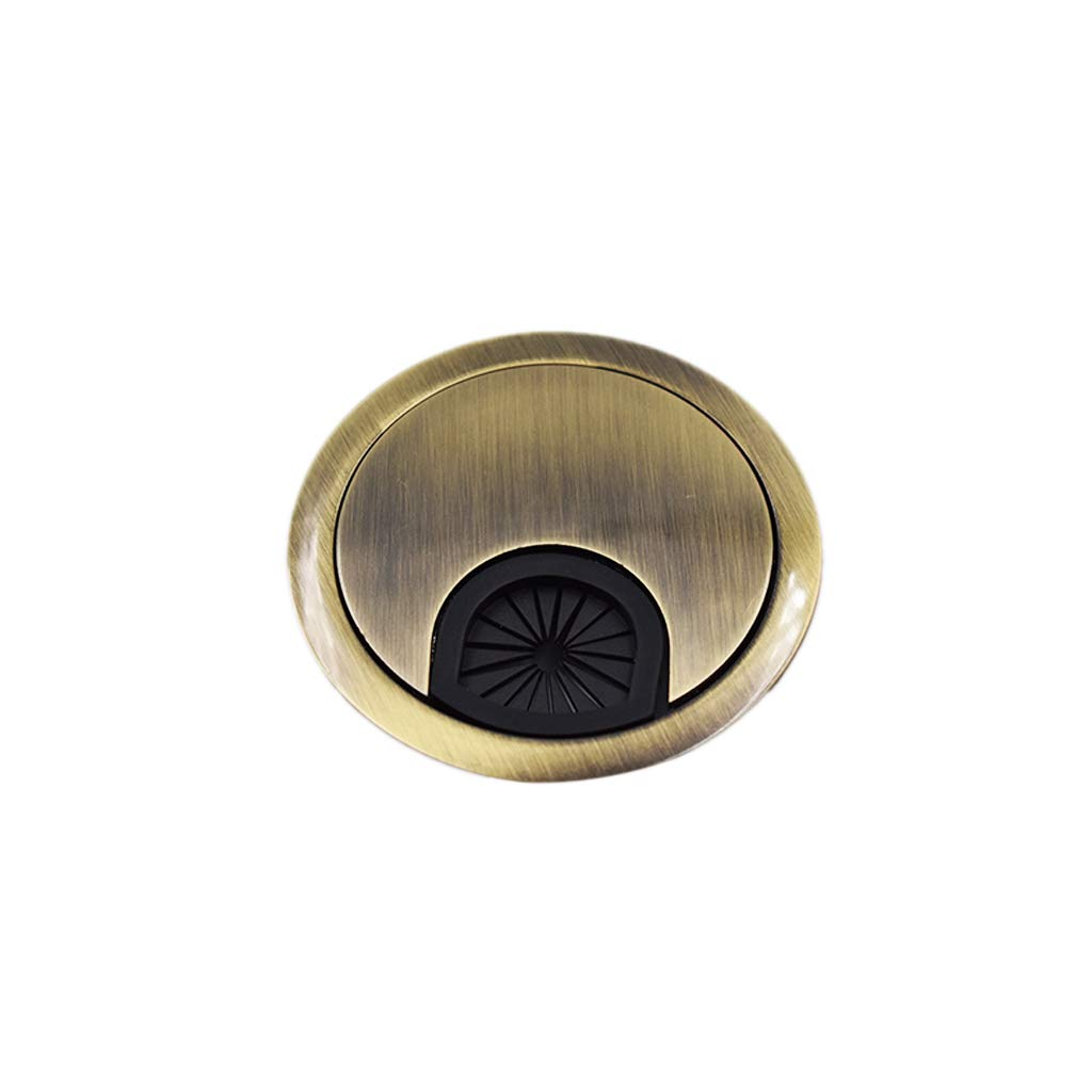 Xeminor Desk Table Grommet Metal Computer Desk Grommet Cable Management Round Cable Wire Hole Cover 60mm