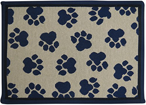 Paw Creme - PB PAWS PET COLLECTION BY PARK B. SMITH World Paws Tapestry Indoor Outdoor Pat Mat, Creme, 13 x 19