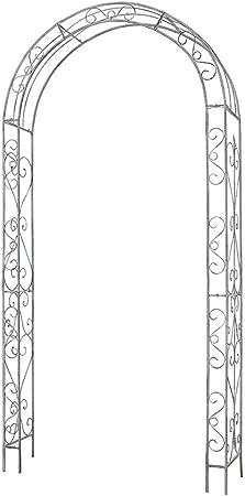 Arcos de Hierro Forjado Retro, balcón, jardín, Patio, terraza, Arcos de Plantas, Marco de Escalada, decoración de pérgola de jardín, autoensamblaje, Fuerte y Estable: Amazon.es: Hogar