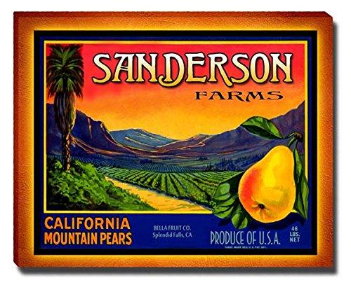 Sanderson Fruit Farm Gallery Wrapped Canvas Print