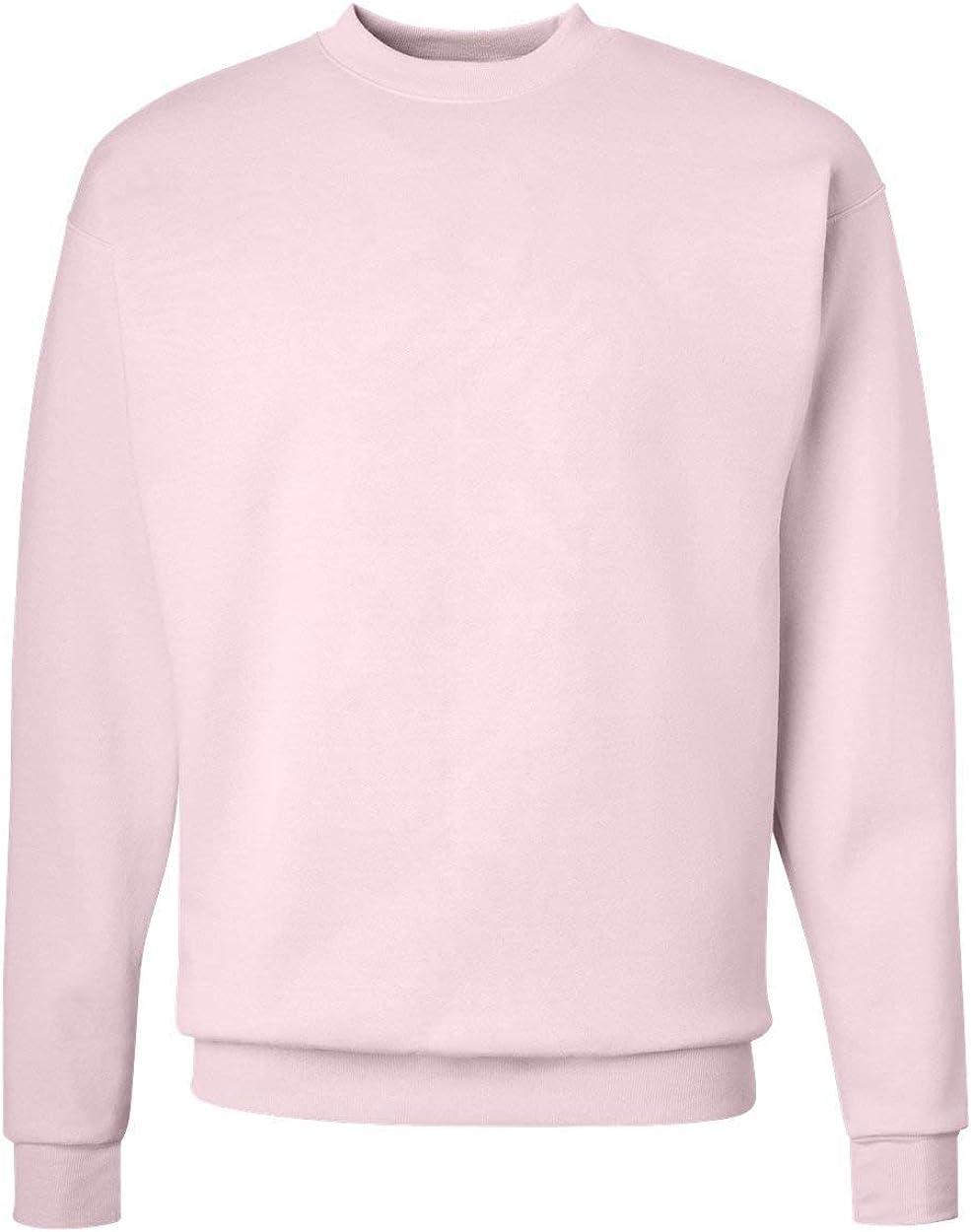 Hanes ComfortBlend EcoSmart Crew Sweatshirt_Pale Pink_4XL