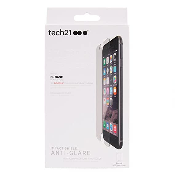 separation shoes 42848 523cd Tech21 Impact Shield Screen Protector Apple iPhone 7, iPhone 6 and iPhone  6s - Anti Glare - NOT for iPhone 7 Plus or 6 Plus