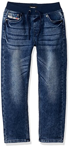 Diesel Little Boys' Straight Leg Jean, Medium Blue Wash Jekb, - Diesel Jeans Kids