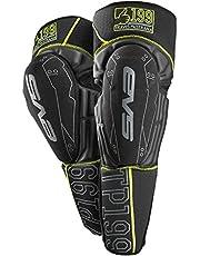 EVS Sports Unisex-Adult T. Pastrana 199 Knee/Shin Pad, Black/Hi-Viz Yellow, L/XL - TP199K-BK-L/XL
