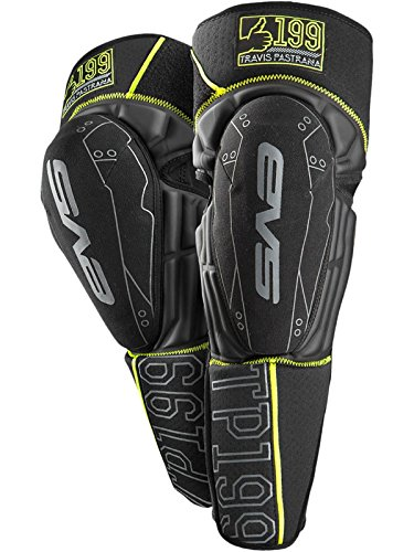 EVS Sports Unisex-Adult T. Pastrana 199 Knee/Shin Pad, Black/Hi-Viz Yellow, ()