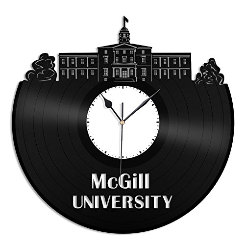 VinylShopUS McGill University Vinyl Wall Clock City Skyline Unique Gift Office Room| Home Decoration by VinylShopUS