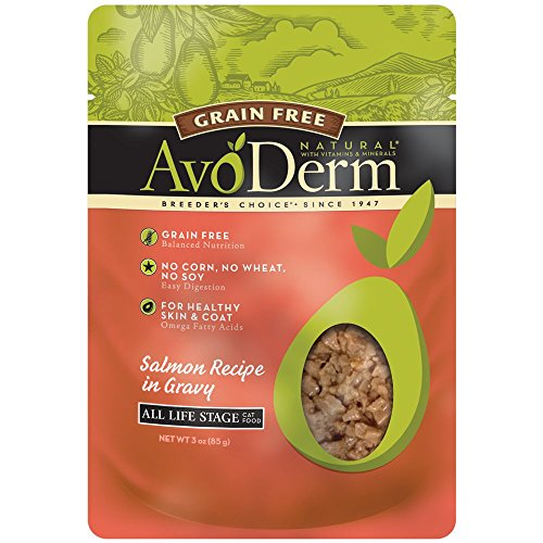 AvoDerm Natural Grain Free Cat Food, 3-Ounce, Salmon, Case of 24