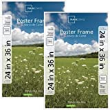 Set of 2, Easy to Hang, 24x36 Basic Poster & Picture Frame, White