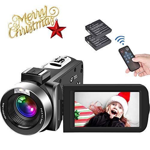 Video Camera Camcorder Full HD 1080P 30FPS Camcorder Camera 24MP Vlogging Camera 18x Digital Zoom Camera 3 Inches IPS…