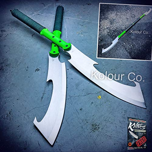 Rescue Fixed Blade (New Cool 55-Inch Dual Blade Fixed Machete Sword Spear Martial Arts Fantasy Cosplay Japanese for Home Camping Hunting Rescue + free Ebook by ProTactical