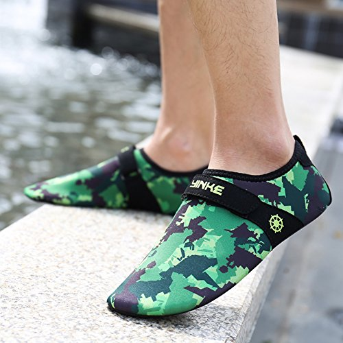 Quick Surf Women Kids Aqua Swim Z Dry For Water and Green Men Socks Camouflage Shoes Yoga Exercise SUO Beach nw1xB