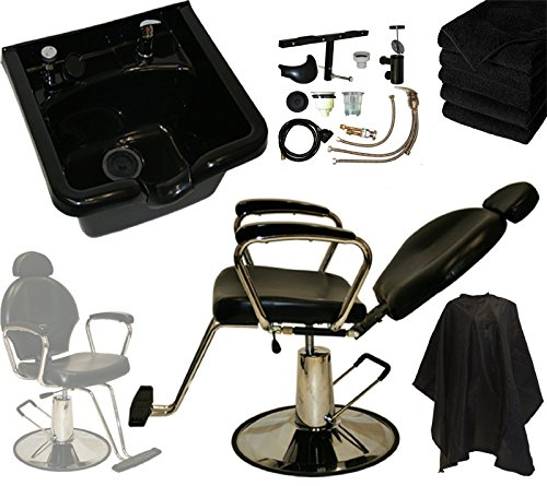 - LCL Beauty ABS Shampoo Bowl and Hydraulic All Purpose Reclining Chair Deluxe Shampoo Package