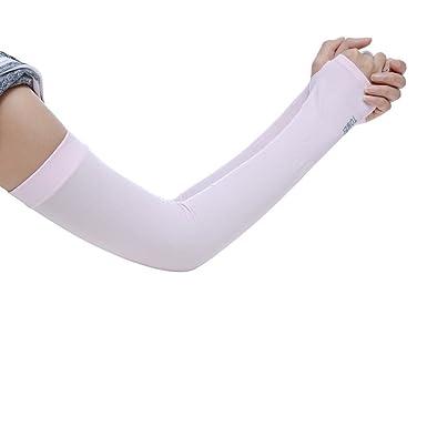 Zilosconcy Unisex-Ärmelmanschetten aus Eisseide Sonnenschutzmittel Anti-MoskitosUV-Schutzhüllen Armkühlungshülsen Ice Silk Ar