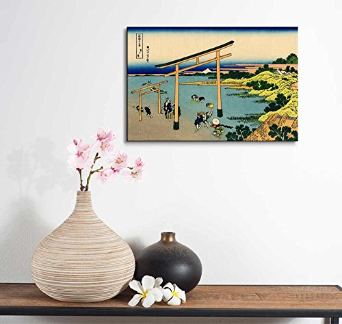 Wll Art Bay of Noboto by Japanese Artist Hokusai Thirty six Views of Mount Fuji Series and Stretched