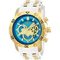 Invicta Men's 'Pro Diver' Quartz Stainless Steel and Silicone Casual Watch, Color:White (Model: 23423)