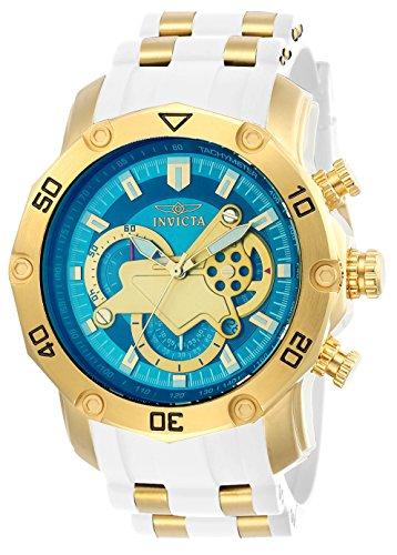 (Invicta Men's Pro Diver Stainless Steel Quartz Watch with Silicone Strap, White, 26 (Model: 23423)