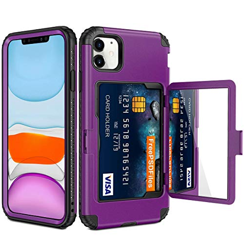 Vofolen for iPhone 11 Case Wallet Credit Card Holder Slot Heavy Duty Full-Body Protection Hybrid Bumper Armor Protective…