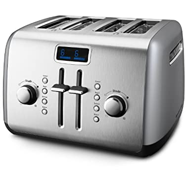 KitchenAid KMT422CU 4-Slice Toaster, Countour Silver