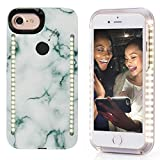 Vanjunn Selfie LED Light Case for iPhone 6 Plus / 6s Plus / 7 Plus / 8 Plus - for Cell Phone with Front and Back LED Rechargeable Backup (Stone Green)