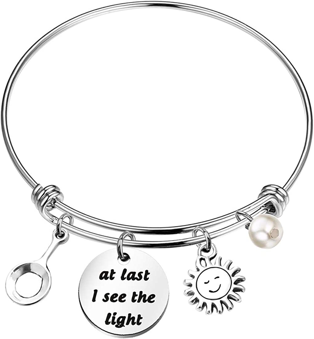 Chooro Tangled Quote Bracelet At Last I See The Light Inspirational Inspired Jewelry Gift Color At Last I See The Light
