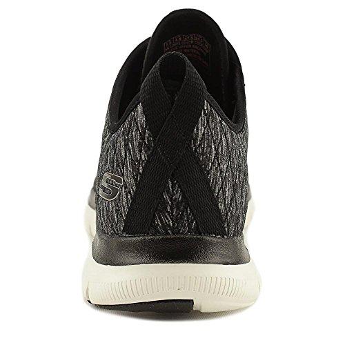 Skechers Frauen Flex Appeal 2.0 First Impression Sneaker Schwarz W / Weiß