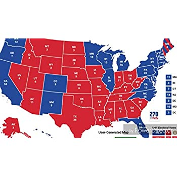 Amazon.com: Home Comforts Laminated Map - Final Electoral College ...