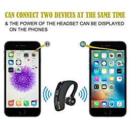 Bluetooth Headset, AROTAO Bluetooth Earphone Wireless Earpiece Hands-Free Earbud with Microphone for Car/Truck Driver Compatible with iPhone 7/6s/6, Samsung Galaxy S5 and more