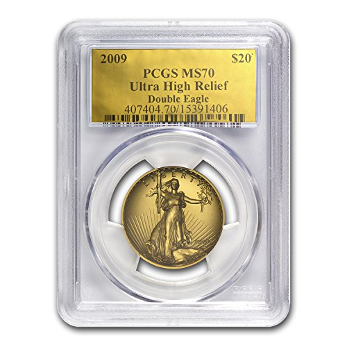 2009 Ultra High Relief Double Eagle MS-70 PCGS (Gold Foil Label) Gold MS-70 PCGS