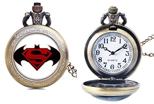 DC+Comics+Watches Products : DC Comics Batman vs Superman Bronze Finish Pendant Pocket Watch