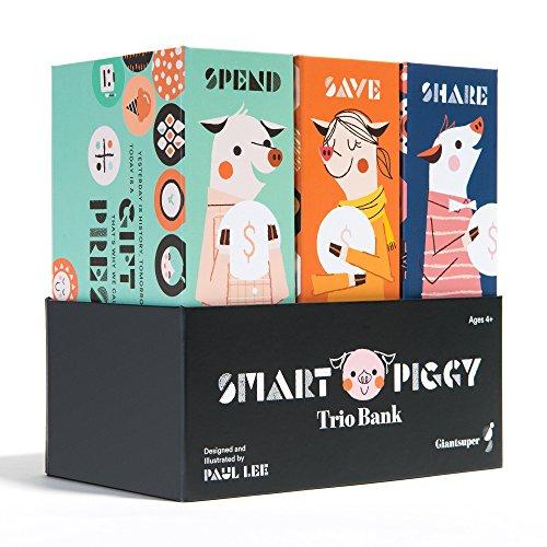 Smart Piggy Trio Bank: 3-in-1 Money-wise Educational Piggy Bank