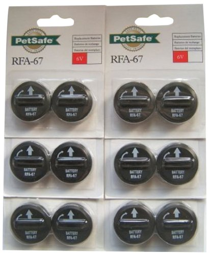 PetSafe RFA-67D 6-Volt Battery, Economy, 12 Batteries, Pack of 6.