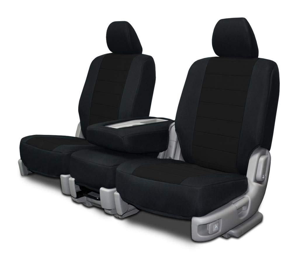 Charcoal Neoprene Fabric Custom Fit Front Seat Covers for Ford 40-20-40 High Back Seats